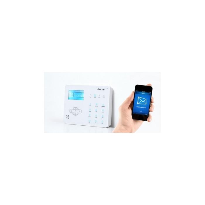 Alarme Maison sans fil Focus GSM + RTC - 5 à 6 Pièces Incendie