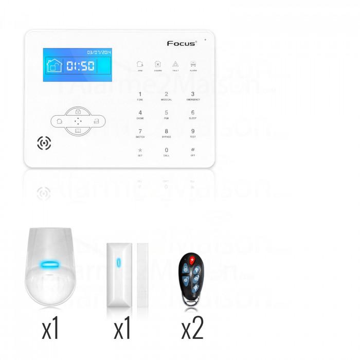 Alarme Maison sans fil Focus RTC Téléphonique - 1 à 2 Pièces