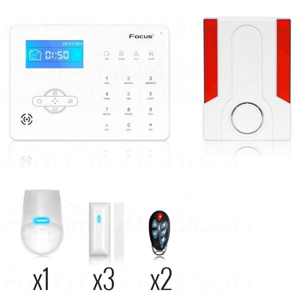 Pack Alarme Maison Sans Fil - 3 à 4 Pièces