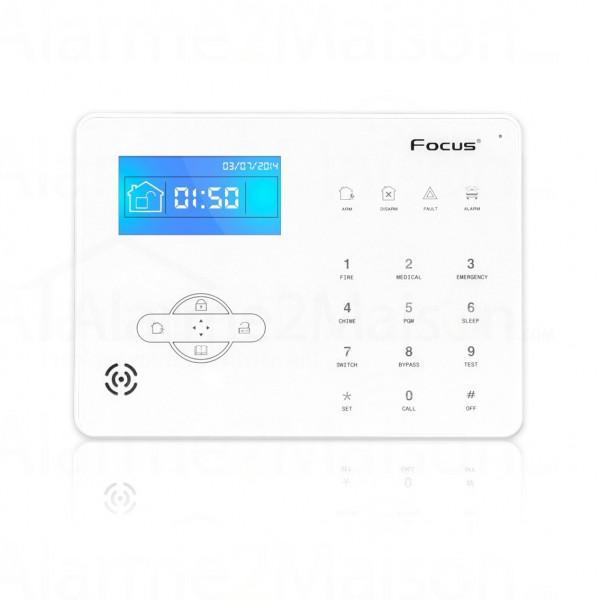 Centrale d'alarme Maison sans fil Focus GSM + RTC