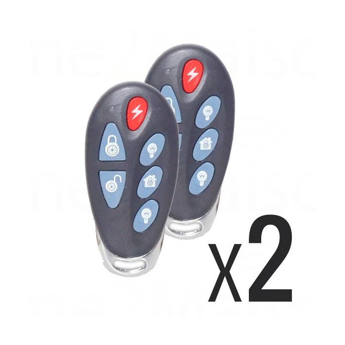 Pack 2X Télécommande 6 Boutons pour Alarme Sans Fil FOCUS