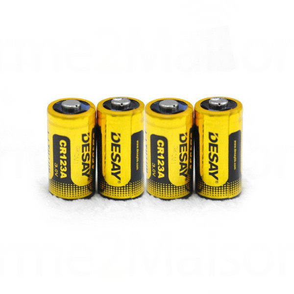 Lot de 4X Piles Lithium CR123A
