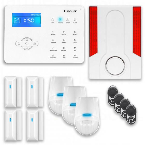 Alarme Maison Téléphonique Sans Fil FOCUS