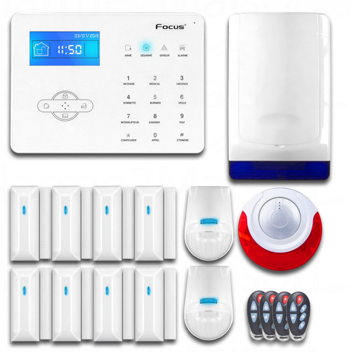 Pack Alarme sans fil GSM avec deux sirènes