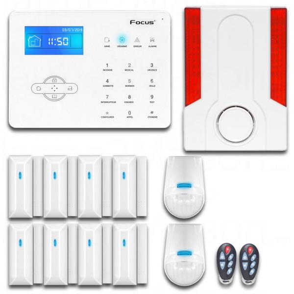 Pack Alarme GSM sans fil avec sirène extérieure