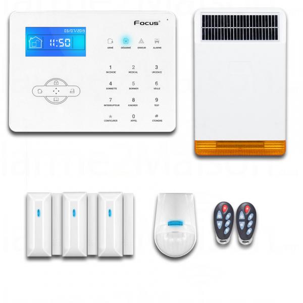 Alarme Sans Fil RTC - 2 à 3 Pièces