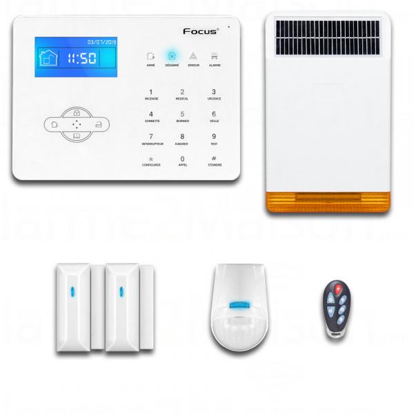 Kit Alarme Maison Téléphonique - 2 à 3 Pièces