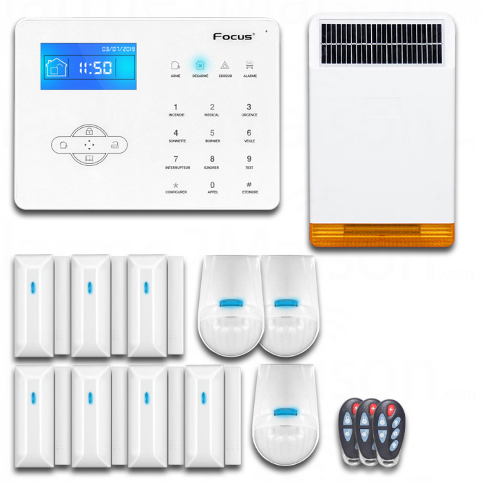Pack Alarme Sans Fil GSM RTC - 6 Pièces et +
