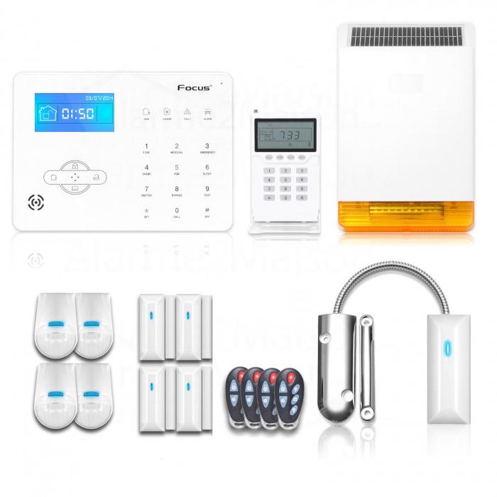 Alarme Maison Focus Sans Fil GSM + RTC - 5 à 6 Pièces Avec Garage