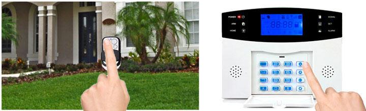 Armement alarme maison GSM