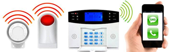 alarme maison sans fil gsm 1 2 pi ces. Black Bedroom Furniture Sets. Home Design Ideas